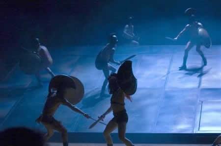 「Troilus andCresida(トロイラスとクレシダ)」の舞台(筆者撮影)