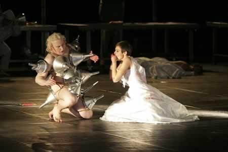 ヤン・ファーブル「私は血」公演の舞台