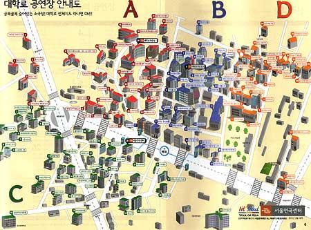 テハンノの劇場案内地図