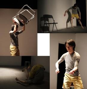 【ワークショップ参加者による、実際に2回目のダンスを撮影した写真。撮影者は左上から時計回りに1枚目と3枚目が阿部一貴さん、2枚目と4枚目が山崎貴大さん。禁無断転載】